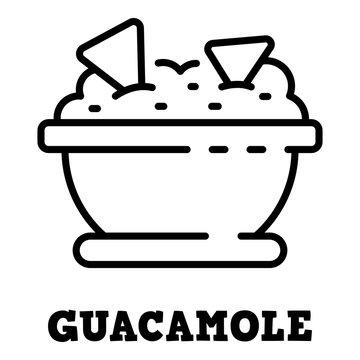 Guacamole icon. Outline guacamole vector icon for web design isolated on white background