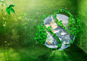 Green planet. Ecology concept illustration