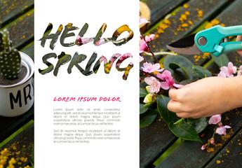 Horizontal Springtime Poster