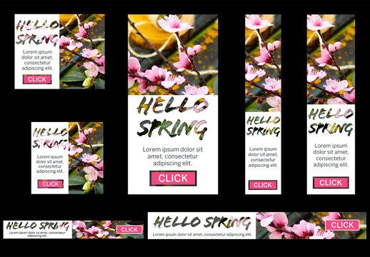 Springtime Web Banner Set