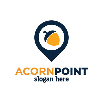 acorn point logo design