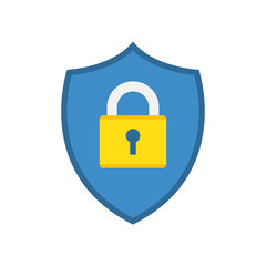 Shield icon with padlock.