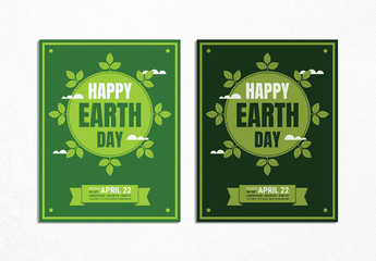 Earth Day Information Brochure Layout