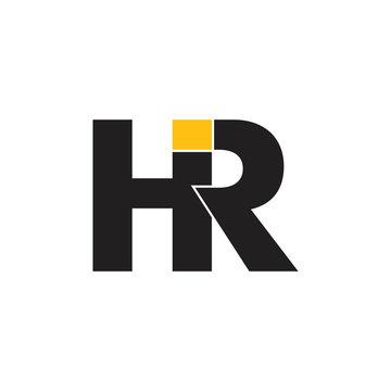 letters hr linked geometric logo vector