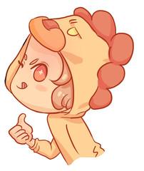 cute kawaii anime girl chibi color leon kids children