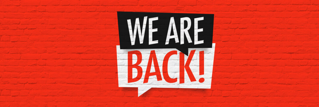 We're back !