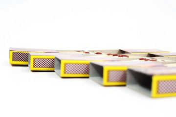 Picture of matchbox. Isolated on the white background.