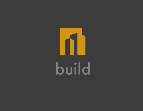 Creative logo abstract 3d cube for building company