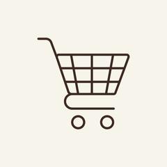 Pushcart line icon