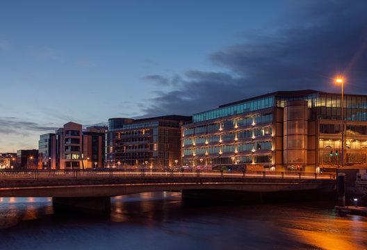 Cork City, Ireland at Night