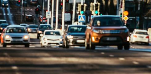 Fototapeta Traffic jam in the city