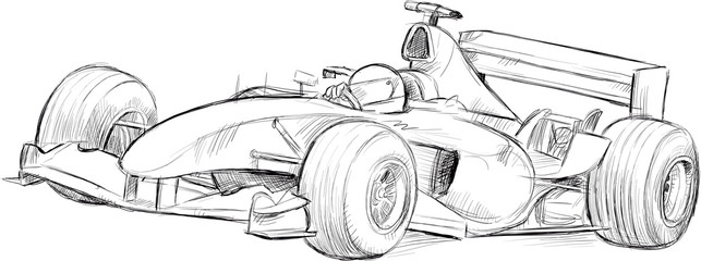 formula 1 vector drawing