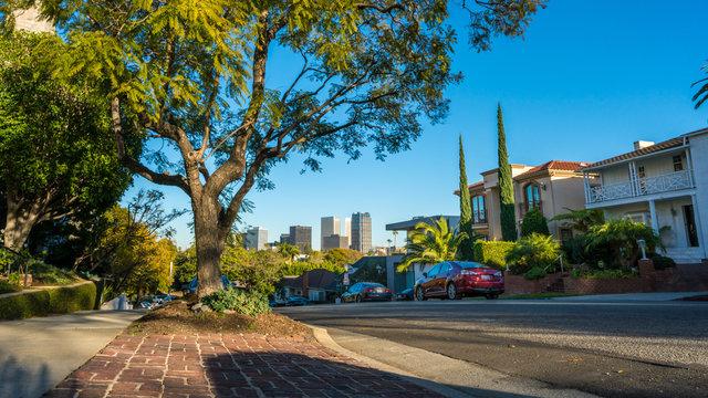 Residential Street in Westwood, Los Angeles, California