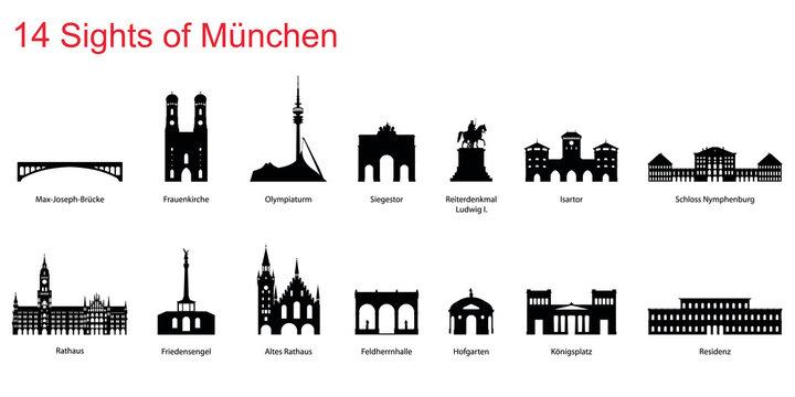 14 Sights of Munich