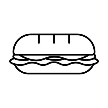 Cartoon Sandwich Icon Isolated On White Background