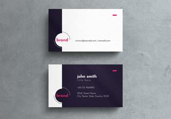 Dark Purple Corporate Business Card Layout
