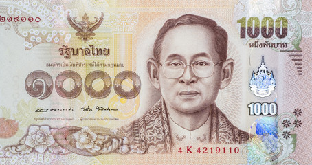 Close up Thai banknotes, Macro 1:1 photography.