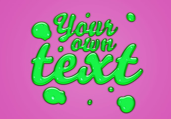 Green Slime Text Effect