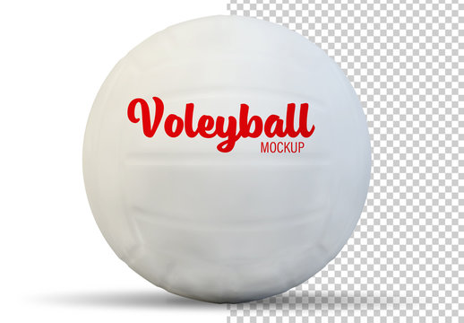 Volleyball Isolated on White Mockup