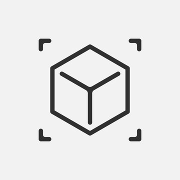 Augmented reality. cube icon isolated on white background. Vector illustration.