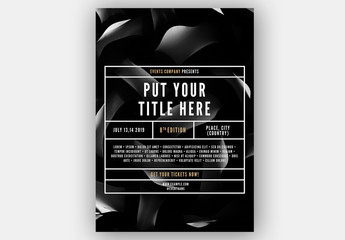 Event Poster Layout with Box Accents
