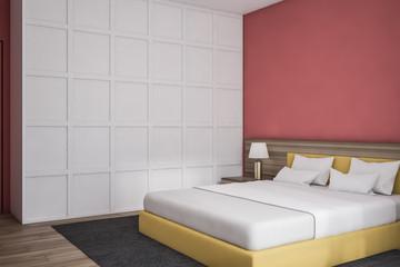 Modern design bedroom interior.