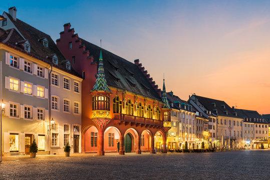 Freiburg at night, Germany
