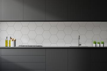 Modern stylish kitchen room interior