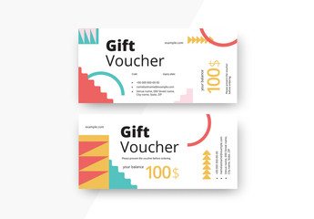 Colorful Abstract Gift Voucher