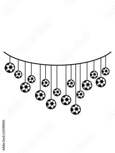 Sport Fussball Verein Balle Club Hobby Clipart Girlande Party