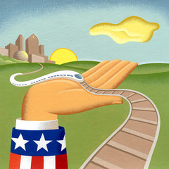 US GOVERNMENT SUPPORT FOR BUILDING NEW RAILROADS