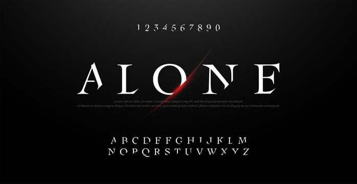 Horror, scary movie alphabet font. Typography classic style fonts set. vector illustration