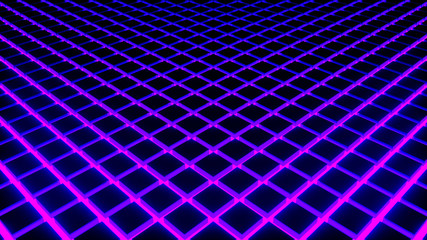 Neon Cube Tile 2 -Purple- 8K Sci-fi 3D Motion Graphics Design