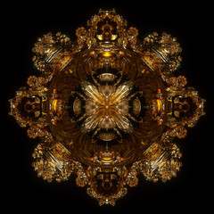 Elegant Chaos Fractal 1 -Gold- 3D Motion Graphics Design