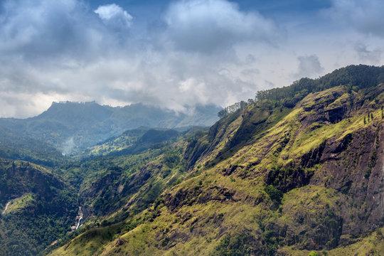 Beautiful mountain landscape, Sri Lanka, Ceylon Island, Ella