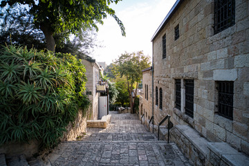 Some vintage lane of a picturesque middle eastern town. Regular life of an old european township....