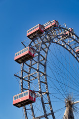 Riesenrad Panoramic Wheel. Prater Park. The oldest ferris wheel in the World. Vienna Austria
