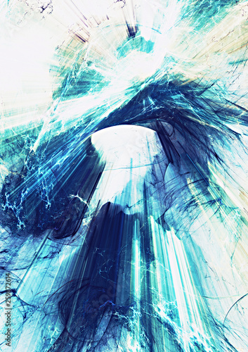 8f966437 Blue light lines in motion. Abstract bright effect explosion. Modern  futuristic concept background for wallpaper, interior, flyer cover, poster,  booklet.