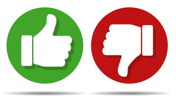 Thumbs buttons like dislike