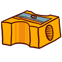 Hand Drawn Sharpener icon. Doodle illustration of sharpener vector icon for web design isolated on white background