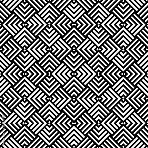 Monochrome Geometric Shapes And Optical Illusion Wallpaper