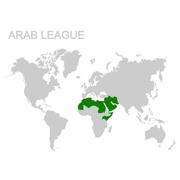 vector map of the Arab League