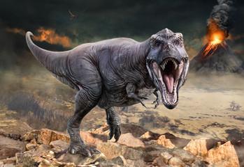 Wall Mural - Tyrannosaurus rex scene 3D illustration