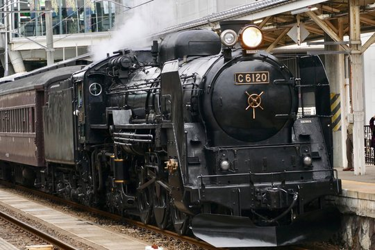 《C6120蒸気機関車》秋田県大仙市