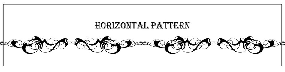 Beautiful abstract graphic horizontal pattern. Great element for tattoo and pattern design.