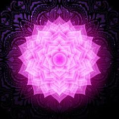 Sahasrara chakra colorful symbol icon. Crown chakra.