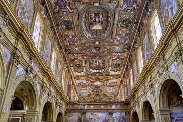 Naples Campania Italy. San Gregorio Armeno (St. Gregory of Armenia) is a church and a monastery in Naples, Italy. It is one of the most important Baroque complexes in Naples
