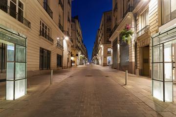 Nantes, street by night