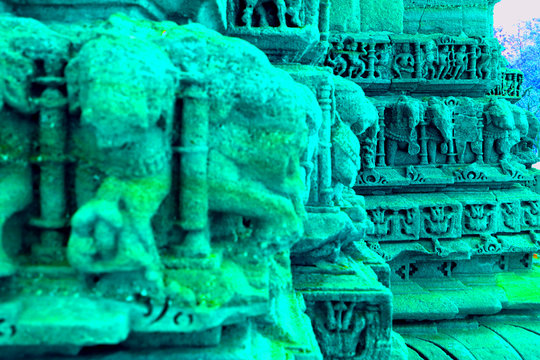abstract temple architecture background