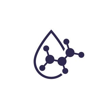Acid drop icon, vector